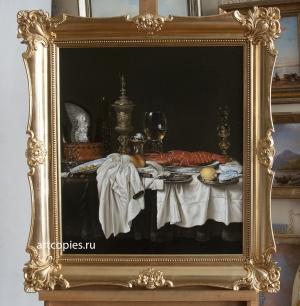"Копия картины ""Натюрморт с лобстером"" Вильям Клас Хеда"