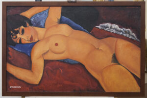 "Копия картины Амадео Модильяни (Amedeo Modigliani) ""Nu couché"""